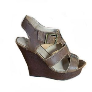 Candie's Brown Strappy Gladiator Wedges